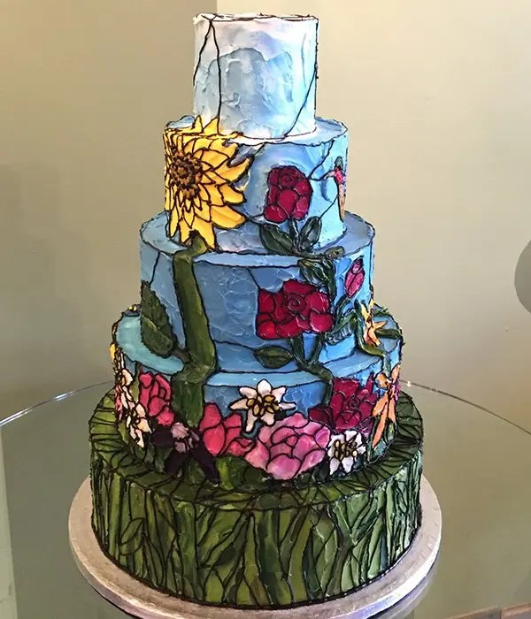 Stained Glass Wedding Cake  Classy Girl Cupcakes
