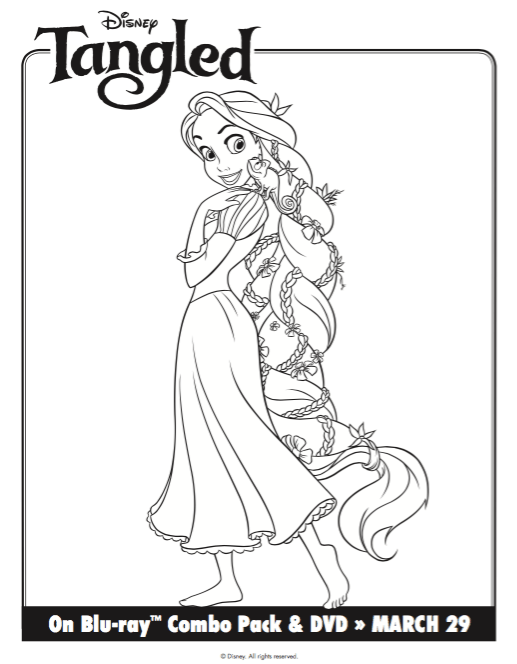Free Printable Tangled Rapunzel Coloring Pages & Activity