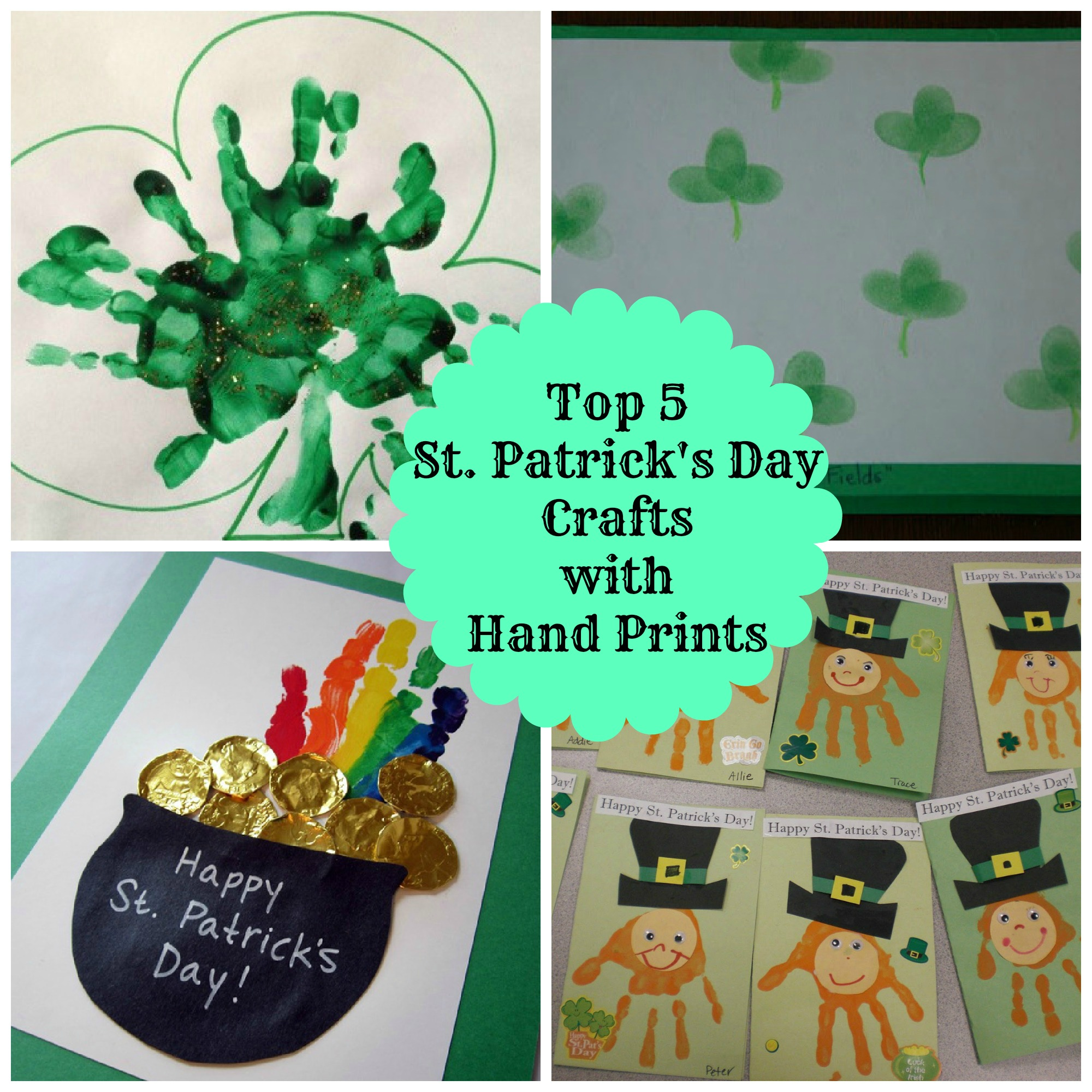 5 Easy Hand Print St Patrick S Day Crafts For Kids