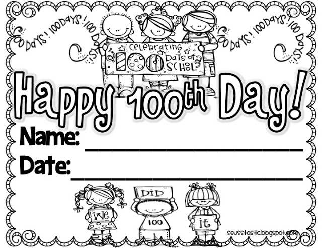 Happy 100th Day Certificate Lessons, Worksheets and Activities