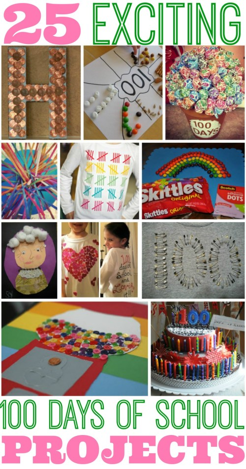 small resolution of Inspiration: 25 Best 100 Days of School Project Ideas - Classy Mommy