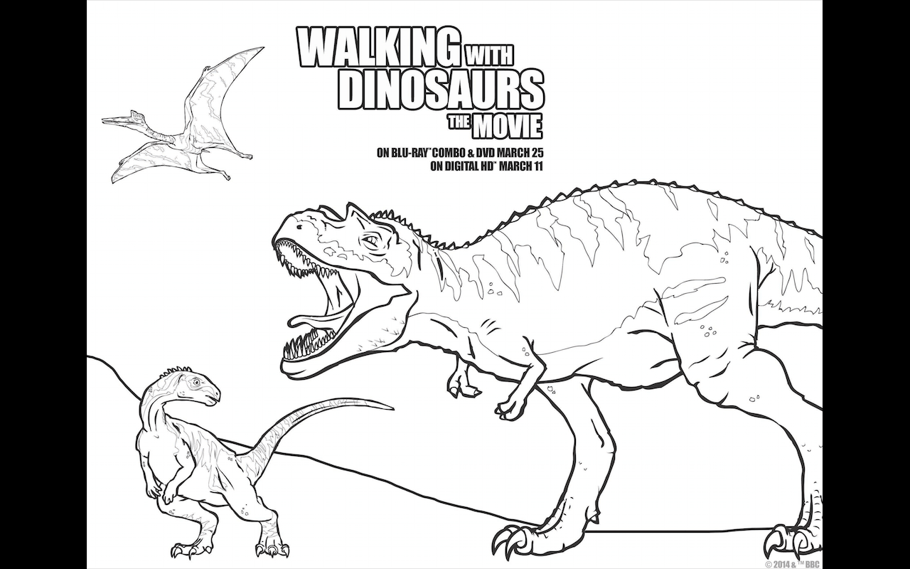 Walking With Dinosaurs Free Printable Coloring Pages And