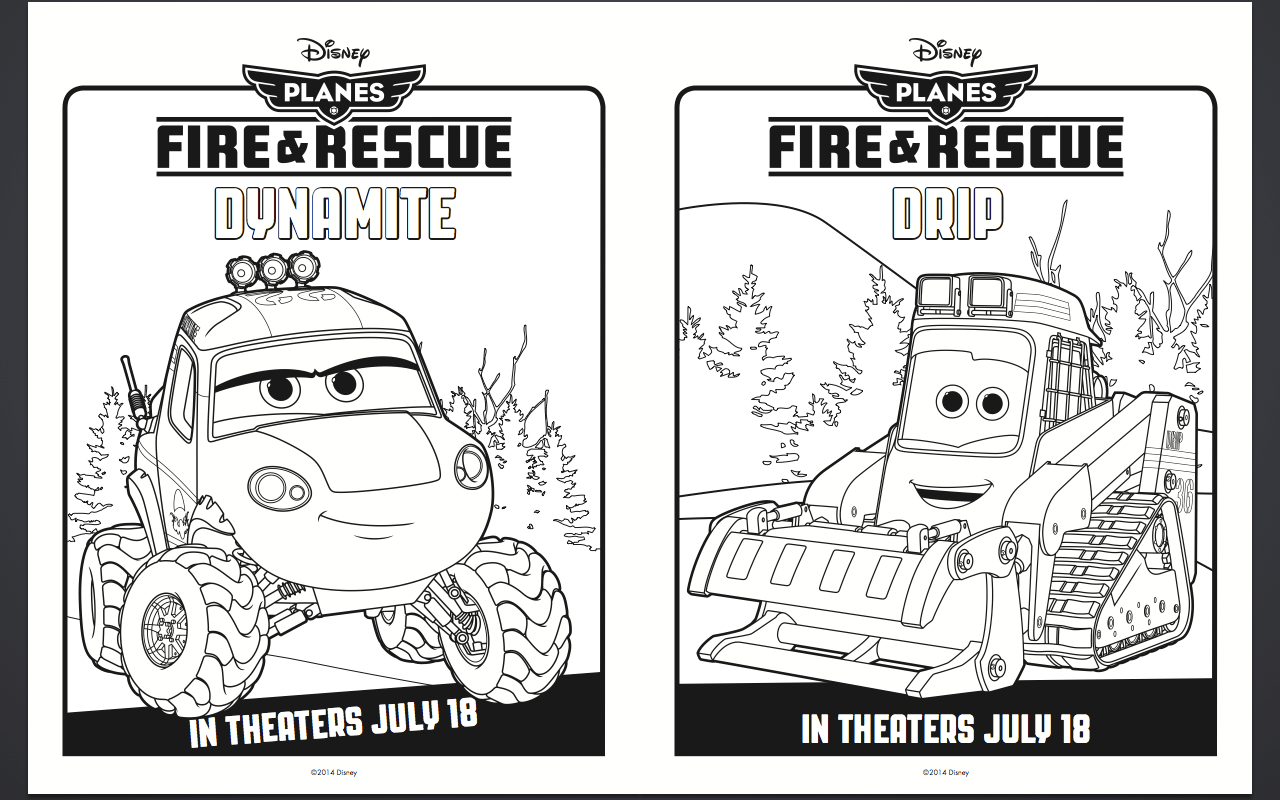 Free Disney Planes Fire and Rescue Coloring Pages and
