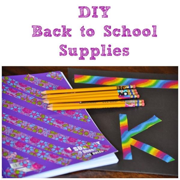 Back School Supplies DIY