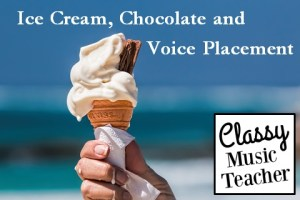 Ice cream, chocolate and voice placement