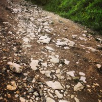 The way to Garnic village