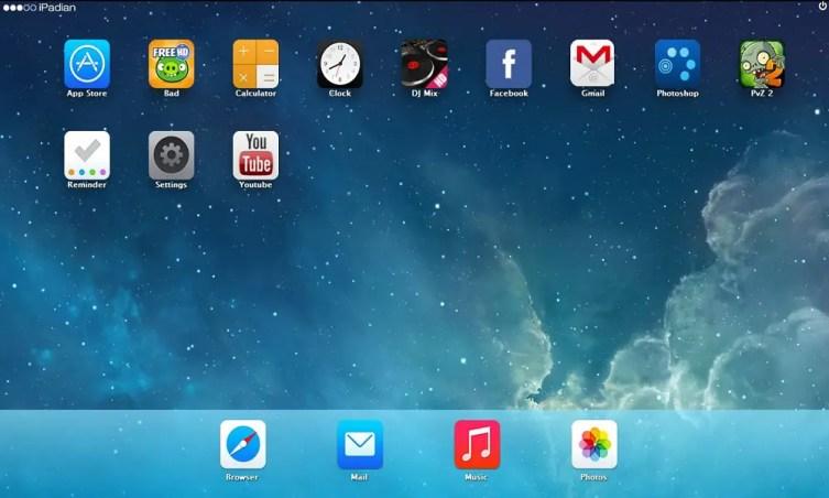 iPadian ios emulator for mac and windows