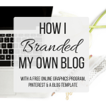 How I Branded My Own Blog