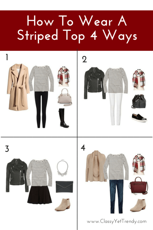 how to wear a striped top 4 ways1