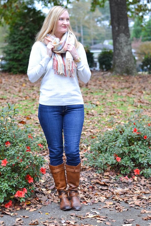 plaid blanket scarf 1