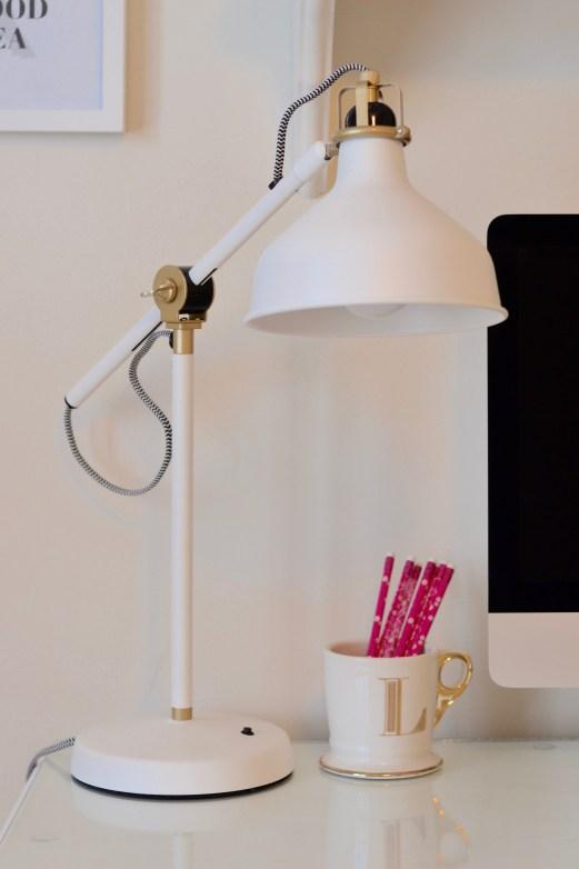chalk paint white desk chic inspirational office ikea lamp