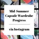 Summer Capsule Wardrobe via Instagram (Trendy Wednesday Link-up #79)