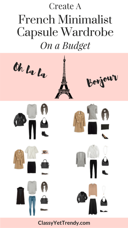 French Capsule: Create A French Minimalist Capsule Wardrobe On A Budget