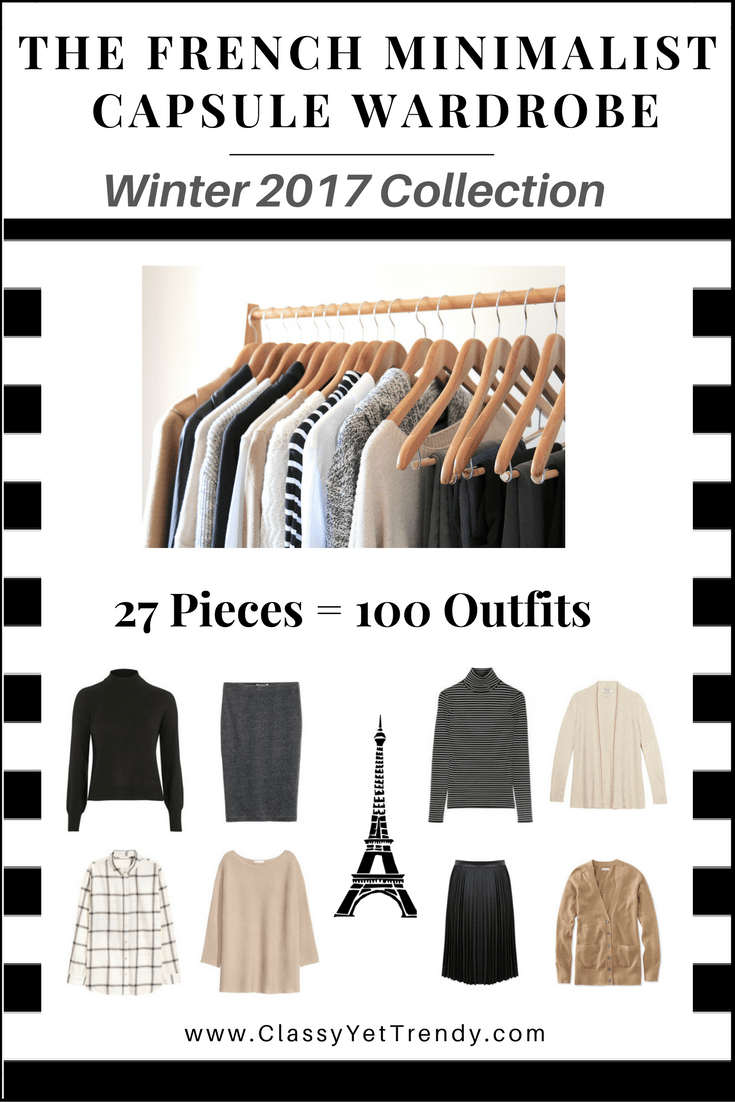 The French Minimalist Capsule Wardrobe Winter2017 cover