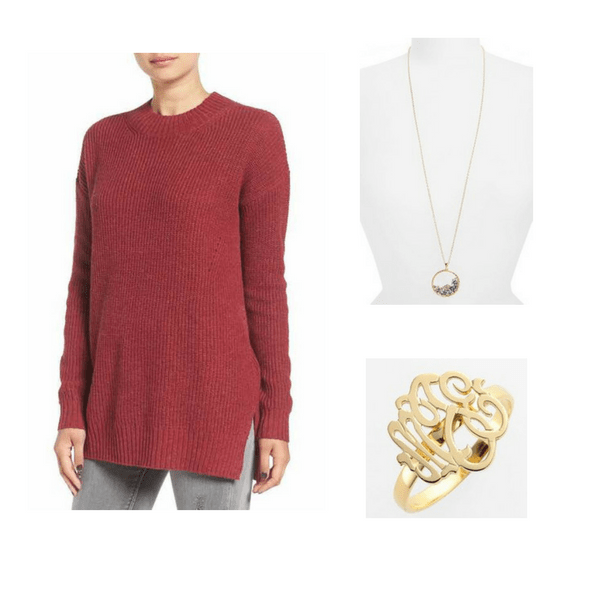 Sweater with Jewelry - Outfit #6