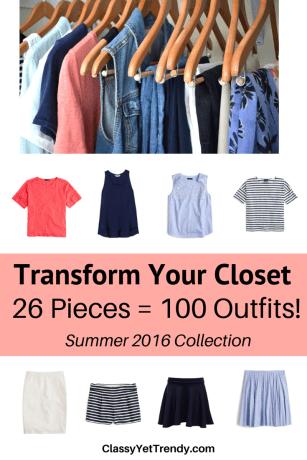 Transform Your Closet- Summer 2016