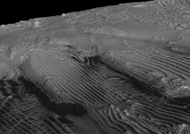 Topography, Caltech; HiRISE Images, NASA/JPL/University of Arizona (click on image to go to source)