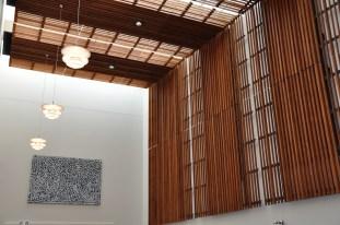 Wooden battens foyer - detail