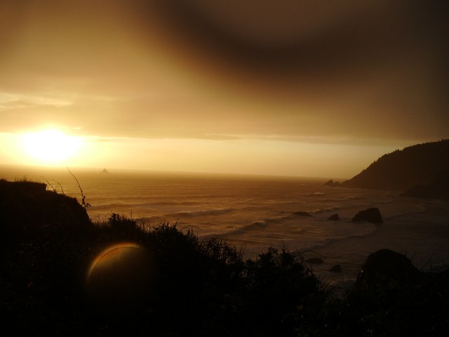 Clatsop Couny Sunset Viewing Ecola Park by Hillary Hartley