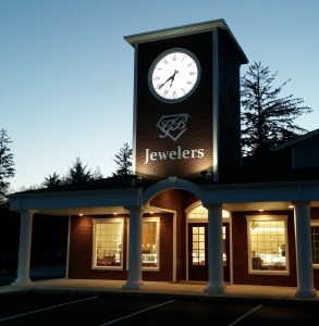 GB Jewelers Clock tower