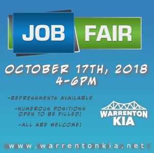 KIA JOB FAIR @ KIA DEALERSHIP  | Warrenton | Oregon | United States