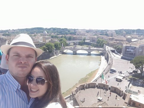 Spectacular view of Rome