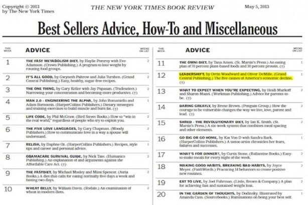 Leadershift hits best seller lists in first week of sales