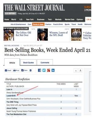 lLeadershift hits best seller lists in first week of sales