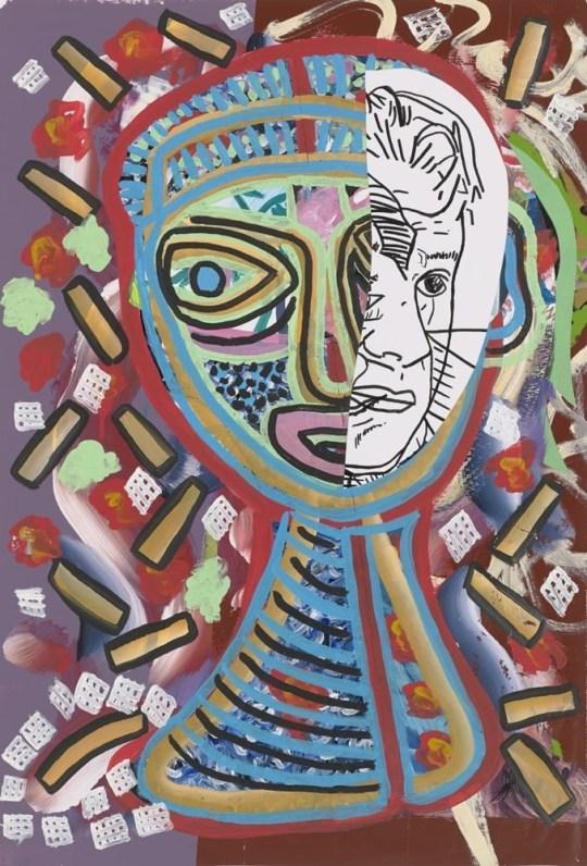 Visage - Peinture de Claude Tironneau