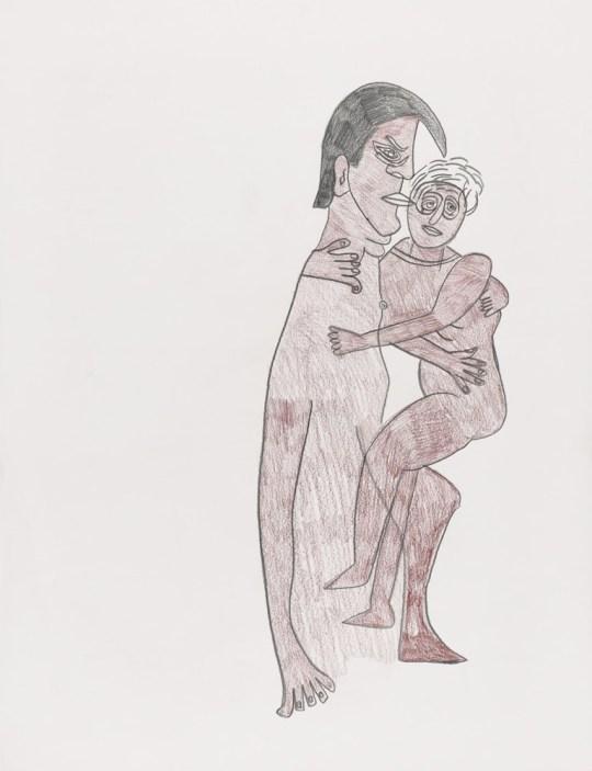 Couple entrelacé - Dessin de Claude Tironneau