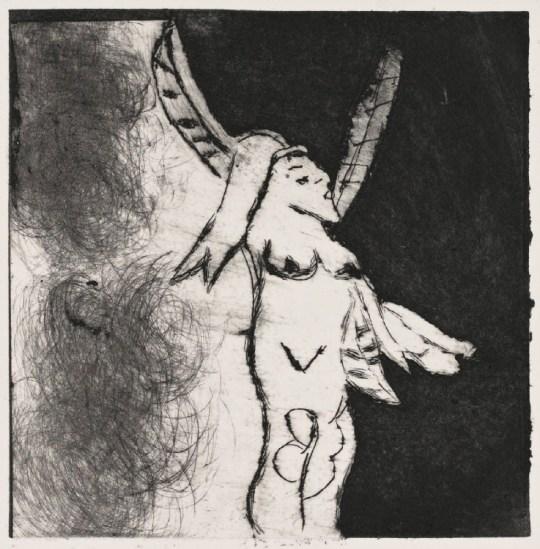Gravure - Visage - 2011 - Claude Tironneau, artiste peintre