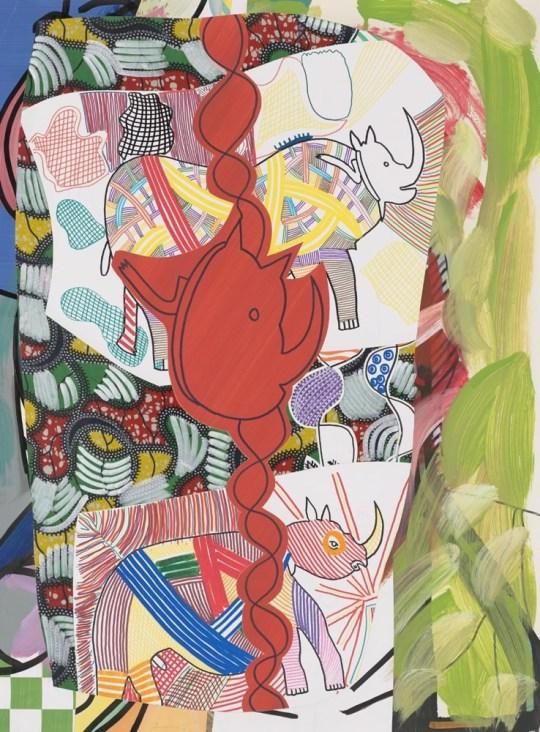 Peinture - Tête de Rhinocéros - 2016 - Claude Tironneau, artiste peintre