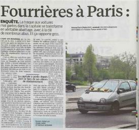 fourriere à Paris