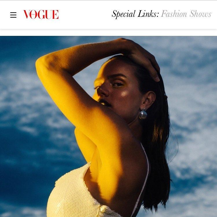 Our dress on the website of Vogue Italia