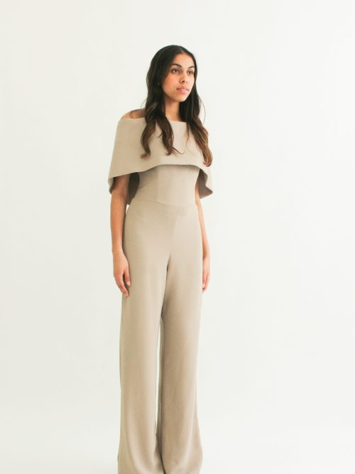 """""""One piece cape look"""" Jumpsuit with bustier top"""" loose pants"""""""