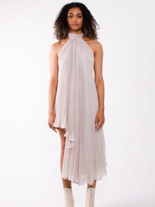 """Party dress"" asymmetric pleated chiffon cocktail dress"""