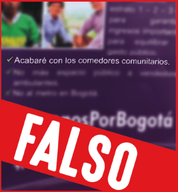 Claudia López NO va a acabar con los comedores comunitarios