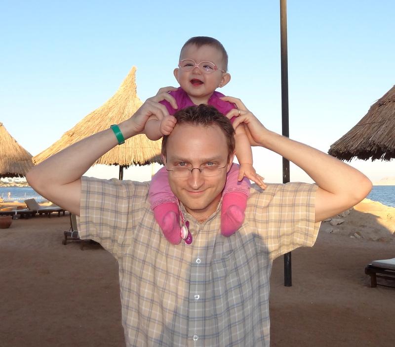 Mit Papi am Strand von Sharm el Sheik