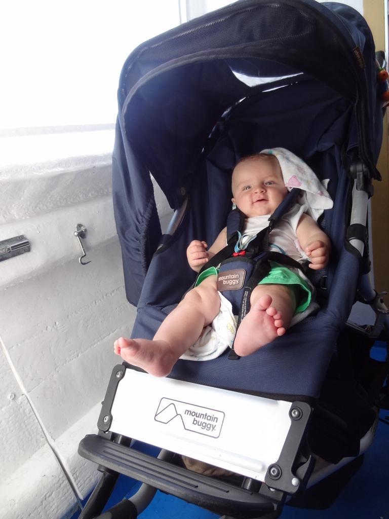 Lucas auf dem Schiff
