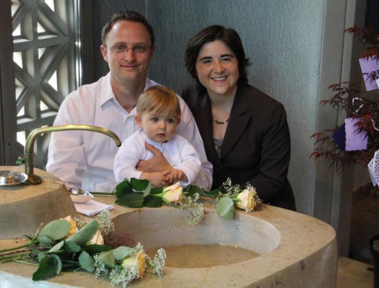 Mathias, Laura Maria und Claudia (rechts Wunschbaum)