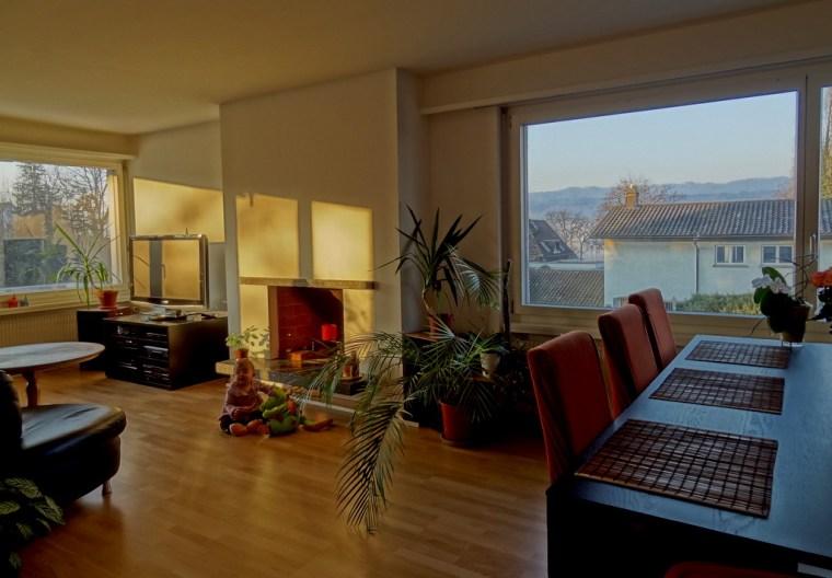 Unser Wohnzimmer in Herrliberg am frühen morgem