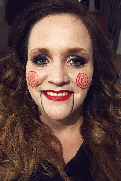 jigsaw makeup saw halloween