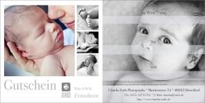 Gutschein Babybauch-Fotoshooting Neugeborenen-Shooting