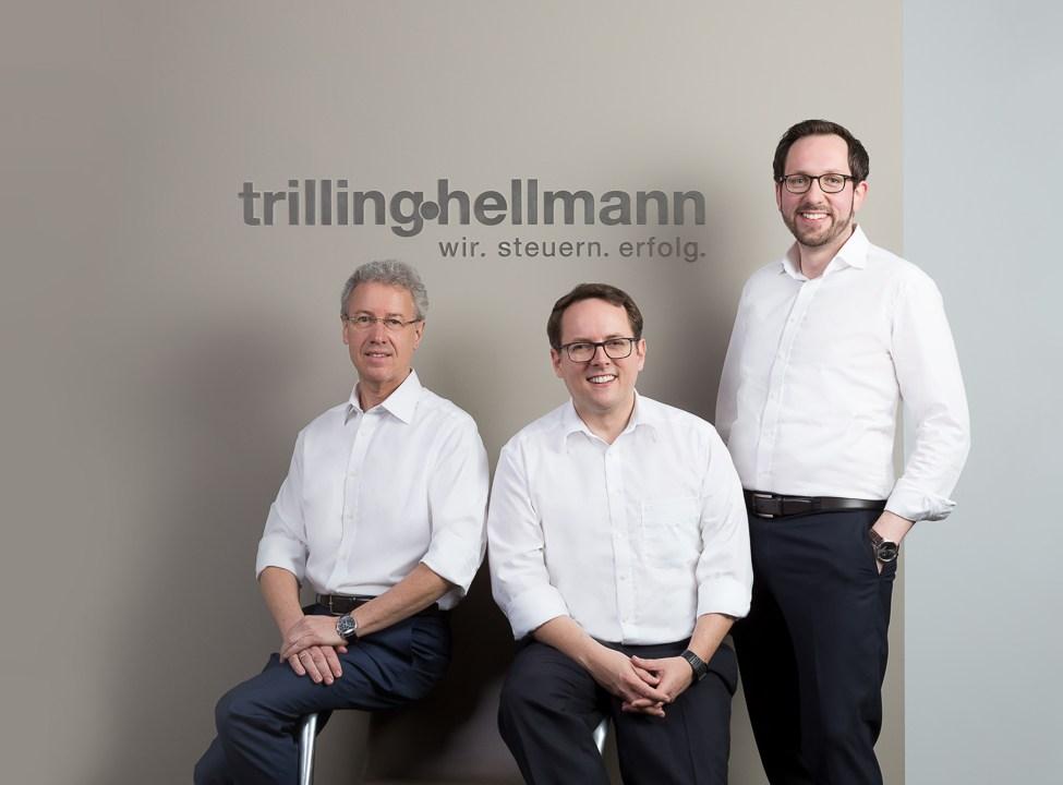 Businessfotos, Headshots, Businessportraits, drei Geschäftsführer, Gruppenfoto
