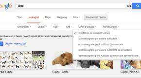 Ricerca immagini su Google filtrata in base ai diritti di utilizzo