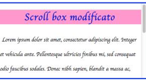Inserire uno scroll box in un articolo di WordPress