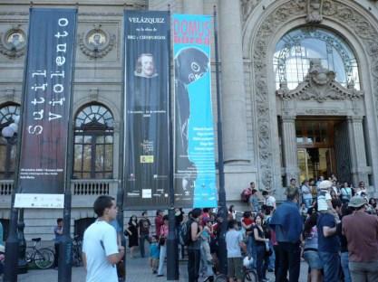 Fachada MNBA. Velázquez en la obra de Bru y Cienfuegos, 2008