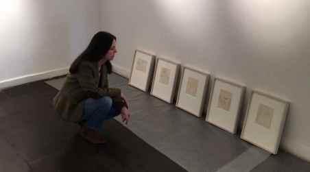 Claudia Campaña. Montaje expo Couve 2017