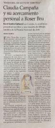 Claudia Campaña Roser Bru. El Mercurio nov 2019