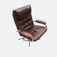 1970's chrome & leather lounge chair | www ...